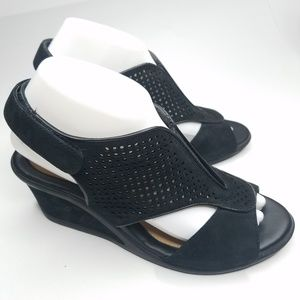Earth Kalso Demi Wedge Strappy Sandals 9
